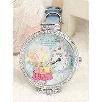 Sweet  girls Handmade polymer clay watch princess sofa ice cream Thin strap ladies watch+free shipping