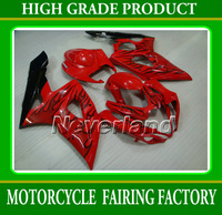 Freeship ABS plactic aftermarket for SUZUKI 05 06 GSXR1000 k5 2005-2006 GSXR1000 black flame in glossy red bodywork set