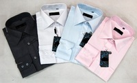 2014 new Fashion Mens Shirts Designer Long Sleeve Slim Fit Striped Cotton Dress Shirt Size s-4xl