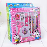 Free shipping Stationery bear stationery student set gift box 8 piece set cartoon set Children stationery