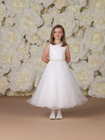 2013 Little girl's pageant dress A-line High collar White Flower girl dresses Children dresses