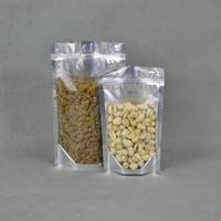 15*22+4cm Free shipping wholesale 200pcs/lot Aluminum + Transparent Zipper Lock Aluminum Stand-up Bag with recloseable