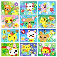 16 Kawaii Kids DIY EVA Sticker, Child Handmade Sticker Puzzel, DIY Sponge Sticker Picture Free Shipping