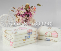 Free shipping, Promotion: discount 3pcs/lot,100% pure cotton children face towels, 25*50 hello kitty cartoon soft  wash towel