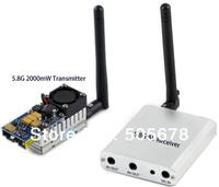 FPV 5.8GHz 2W Video Transmitter Receiver AV RX TX 5.8 Ghz 2000mW 5.8G 2 Watt VTX