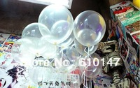 100pcs/lots wholesales 12 inch clear latex balloons transparent balloons party decoration balloon