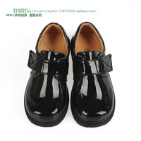 Male child leather child formal dress shoe flower children shoes bright children shoes match blazer shoes