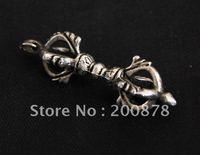 Tibet Jewelry  TBP324  Tibetan silver antiqued Kingkong vajra pendant, Tibet man cross dorje amulets,46mm,best offer