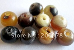 TSB0289 Tibet natural Yak horn prayer loose beads,round mala beads,12mm(China (Mainland))