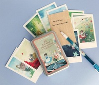 Fancy Alice in the wonderland mini postcard 65*100mm 3USD/pack 40pcs cards in