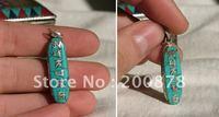 Tibet Jewelry  TBP308  Tibetan mantras amulets pendants,copper inlaid turquoise pendants,OM MANI PADME HUM