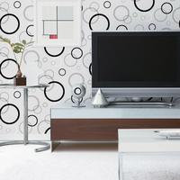 High Quality Modern Style Circle Pattern Vinyl Wallpaper For Livingroom/TV Background World Free Shipping