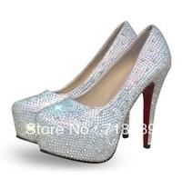 Star diamond wedding shoes