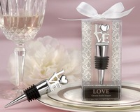 Free Shipping 20 PCS/LOT  LOVE Bottle Stopper Silver Wedding Souvenirs for Guest