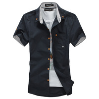 free shipping new hot cotton casual shirts for men short sleeve solid men shirt M/L/XL/XXL