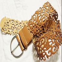 220# all-match cutout women's strap fashion belt strap decoration ultra wide cummerbund Women