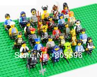 30pcs different figure DIY Building Block doll Loose Brick accessory compatible Sluban Wange