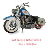 Antique craft motorcycle model handmade pigbank craft home decoration bar coffee house display birthday gift