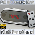 Fashion Full HD 1080P Mirro Digital Clock mini DVR Alarm Hidden Camera HDMI Mini camcorder 12 hours recording Multifunction