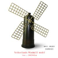 Antique craft windmill model handmade pigbank craft home decoration bar coffee house display birthday gift