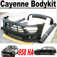 Fiberglass HM Design 2012 Cayenne 958 Body Kit Bodykit  for Porsche (front bumper,side skirts, rear diffuser, fog lamp)