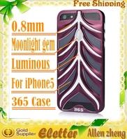 Flaunt 365 luminous fishbone style moonlight gem Aluminum case for iphone 5 with retail box Switzerland post free shipping