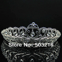 High Quality Austrian Crystal Silver Plated Promotion Jewelry  Fashion Bridal Wedding Tiaras
