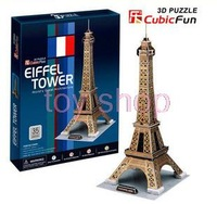 3 a bag mail music cubic three-dimensional puzzle diy toy 3 d building model of the Eiffel Tower in Paris, France