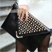New 2013 Fashion Punk Rivet Women Evening Clutch Women Messenger Bags Clutch Night Clutch