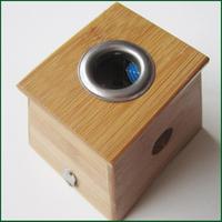 Wormwood bamboo single hole moxa box moxibustion box moxa roll rack box