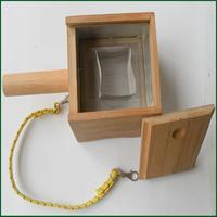 Bamboo single grid moxa burner box / Joint moxibustion box