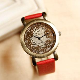 Gold decorative pattern vintage watch fashion watch PU belt lady popular all-match women's watch