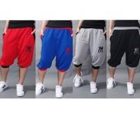 Summer casual shorts men, Hip hop short trouser women, dance/hip-hop sweatpants boys/girls, Gray/Red/Black/Blue, free shipping