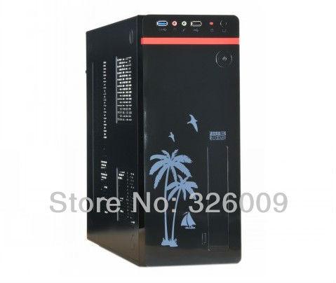 htpc case mini pc case PCCOOLER U3 ATX,M-ATX,U-ATX,ITX mini computer case htpc mini computer case power supply set(China (Mainland))