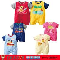 New Hot selling Original baby romper boy&girl's short sleeve romper 100% cotton 4pcs in pack