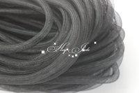 Skinny 8mm wide Tubular Crin polyester tube Millinery Hat Trim - black 30 yard/lot