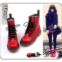 2014 winter fashion vintage lacing platform boots martin boots  shoes female free shipping