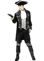 New arrive!!Free shipping Pirates of the Caribbean cosplay,men  halloween costumes,men party costumes JQ105