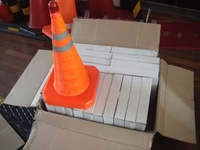 retractable traffic cone with top safety light (sample)