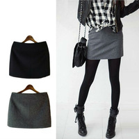 2013 New Hot Fashion Spring AutumnWinter Woolen Fabric Basic Short Skirts For Women Mini Skirt Ladies Slim Hip Classic S03040012