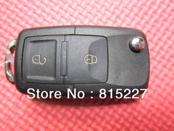 Hot Sale In stock Folding Car Flip Remote Key Replacement Case For Vw 2 Buttons Free Shipping(China (Mainland))
