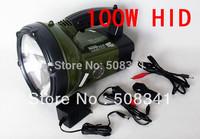 12V 100W Lower price HID portable spotlight camping light , HID portable search light,spot light