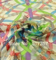 Wholesale 100% silk silk chiffon fabric / SILK scarf / dress fabric 00489