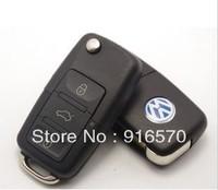 car key Folding Remote Key Shell Case For VW Golf Passat Polo Bora 3 Buttons