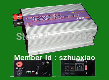 250W solar power grid tie inverter, solar on grid inverter, input:10.8 - 30VDC/22 - 60VDC,Output:90 - 130VAC/190 - 260VAC