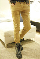 2013 male personality slim vintage quality men's thick corduroy trousers male casual pants