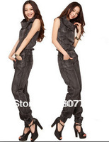 Fashion female 2013 luxmoda elegant jumpsuit denim jumpsuit freeshipping hot sale