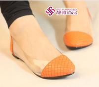 Женская обувь на плоской подошве fashion serpentine pattern metal comfortable all-match flat women's pointed toe shoes 3 colors#Y484