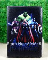 Hulk Captain America  men   design   Leather Smart  Cover Case for Ipad mini