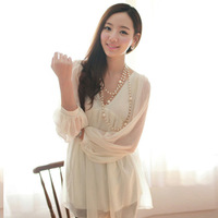 Sexy women's spring summer fashion solid elegant chic casual blouses RJ0915